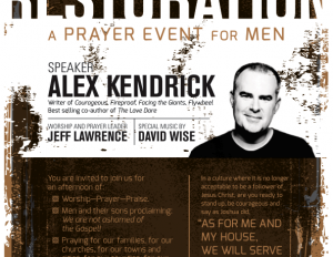 Please Join fp Men's Groups at the RESTORATION Event, August 5th, 4pm, at Thompson Boling Arena