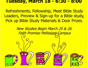 fp Women's Groups Open House for New Spring Bible Studies