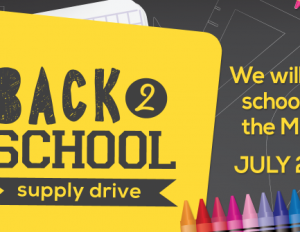 Back to School Supply Drive - Coming Soon to a Campus Near You!